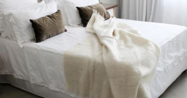 Products Black White And Mohair Throw On Pinterest