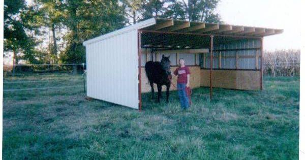 Portable Barn Open Shelter Frame 22 Pole Barn Kit Run In