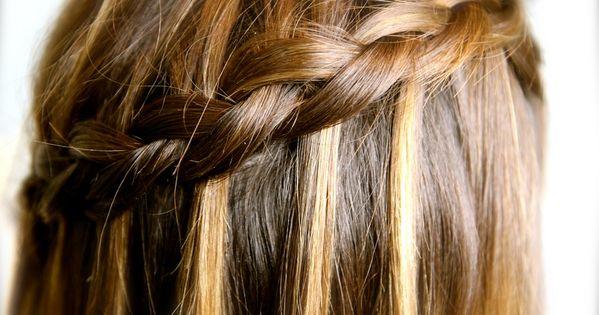 5 Minute Hairstyles Braids: DIY Dutch Waterfall Braid Video Tutorial {5 Minutes