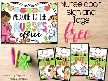 Nurse S Office Welcome Sign And Door Tag School Nurse Office Decorations Nurse Office School Nurse Sign