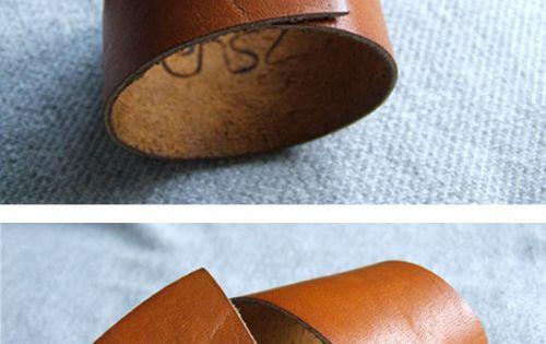 leather cuff bracelet idea