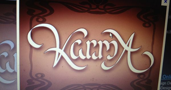 karma ambigram tattoo idea tattoos pinterest ambigram tattoo and tattoo. Black Bedroom Furniture Sets. Home Design Ideas