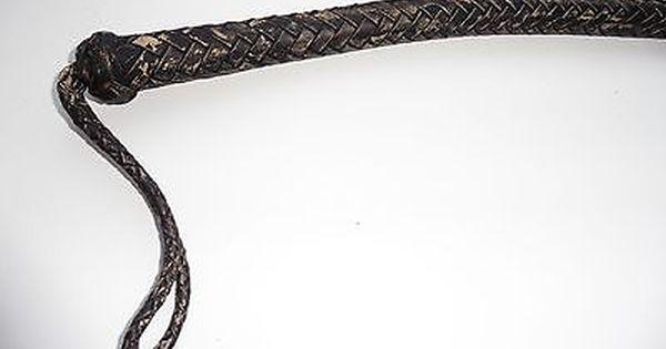 """Genuine leather whip of Russian Cossacks Short whip wolf-killer 14/"""" Volchatka"""