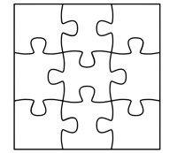 Monkey Puzzle Puzzle Card Making Templates Puzzle Pieces