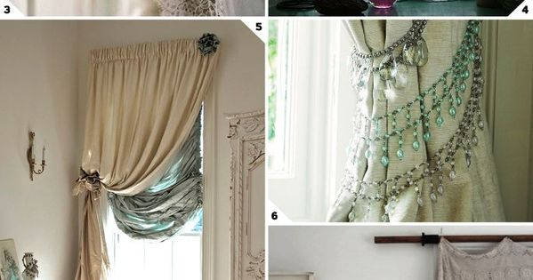 Shabby chic is still chic for those who love the look window treatment style shabby chic - Shabby chic curtain poles ...