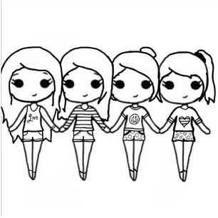 Wegiveyoutheanswer Chibi Templates Instagram 5th Village Clipart Best Clipart Best Bff Drawings Drawings Of Friends Cute Girl Drawing