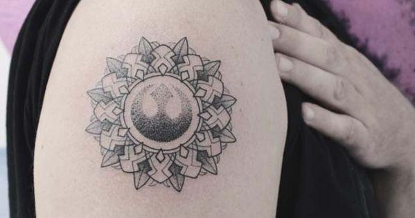 Pornstar with rebel alliance tattoo