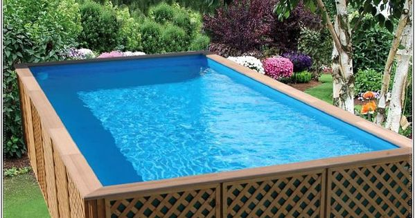 Wooden above ground pools design beautiful above ground - Beautiful above ground pools ...