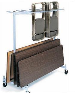 Raymond Folding Chair Folding Table Cart 2 Tier Storage Rack