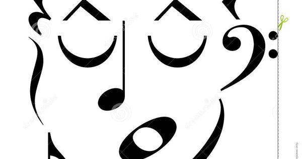 Music Symbols Clip Art Cartoon Man S Face Made Up Of