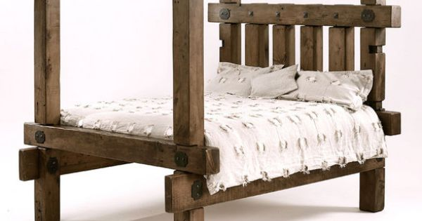 Reclaimed Beam Bed Limited Edition Reclaimed Wood Bed