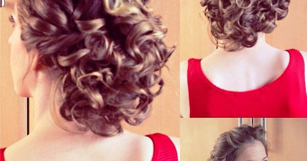Updo Hairstyles For Short Curly Hair Hairstyles