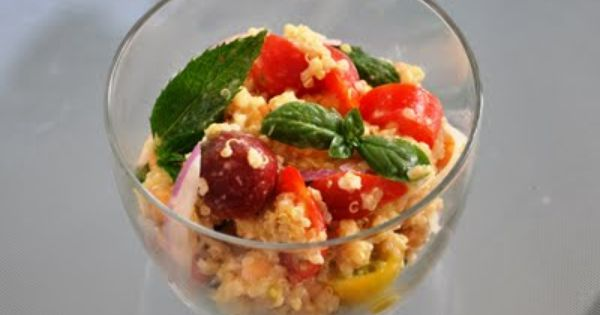 -Scented Quinoa with Herbs, Heirloom Tomatoes, Chickpeas and Lemon ...