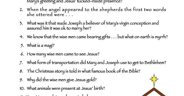 Bible trivia, Trivia and Christmas trivia games on Pinterest