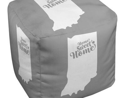 East Urban Home Home Sweet Fort Wayne Cube Ottoman Upholstery Colour Gray Fort Wayne Indiana Tufted Storage Ottoman Leather Pouf