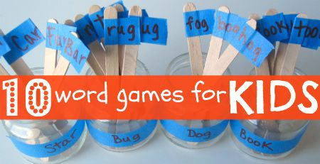 No Time for Flash Cards: 10 Fun Word Games For Kids