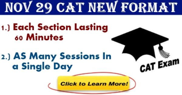 New Changes In Cat Format Exam Day Exam Format