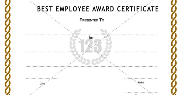 best employee award certificate templates free download