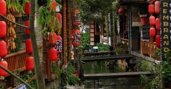 Paper lanterns in Lijiang, China