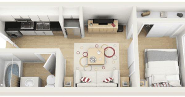 Eleve Lofts And Skydeck Studio Floorplan 0 Bed 1 Bath 375 Gif 500 210 Interior Design Plan Small Apartment Layout Small Condo Living