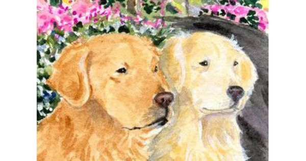 Caroline S Treasures Golden Retriever 2 Sided Garden Flag Golden Retriever Retriever Dog Flag