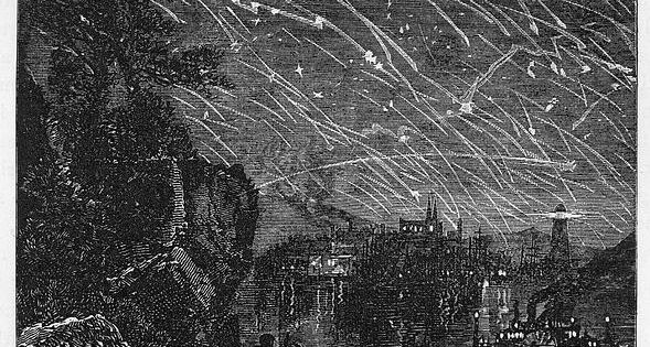 1833 Meteor Shower Leonid Meteor Shower, 1833 Photograph