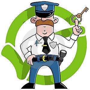 Ilustración Libre De Derechos 20227171 Dibujos Animados De Guardia De Seguridad En La Parte Frontal De Un Verde Guardia De Seguridad Dibujos Animados Dibujos