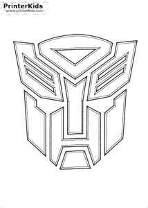 Optimus prime cake template | optimous prime logo stencil.