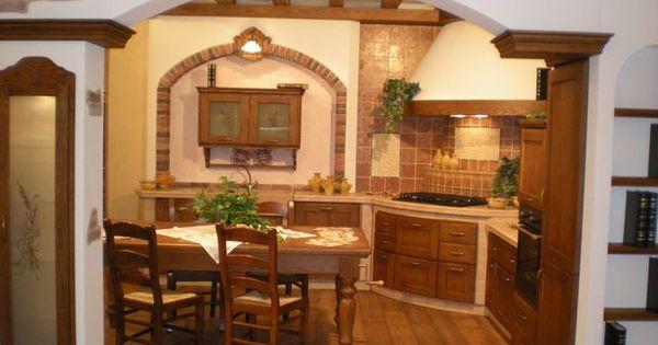 Cucina in muratura in massello di frassino con - Creare in cucina d ...