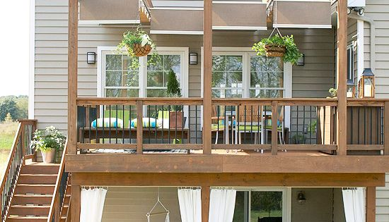 Under deck patio. Stylish Decorative Touches for Outdoor Rooms