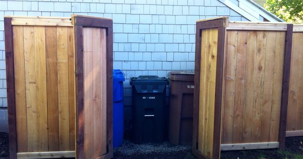 Custom Fence With Yard Waste And Garbage Corral Our