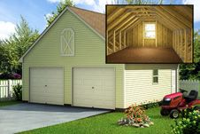 Custom Building Package Kits Two Car Garages Garage Plans With Loft Garage Plans Garage Loft