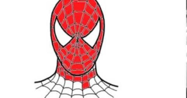 how to draw spiderman step by step easy