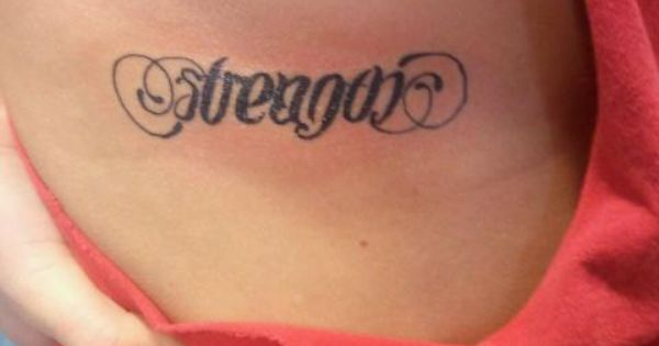 strength courage ambigram tattoo actual accomplishments pinterest ambigram tattoo. Black Bedroom Furniture Sets. Home Design Ideas