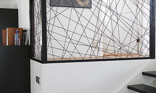 une rampe en laine ficelle corde fer garde corps pinterest style inspiration and tile. Black Bedroom Furniture Sets. Home Design Ideas