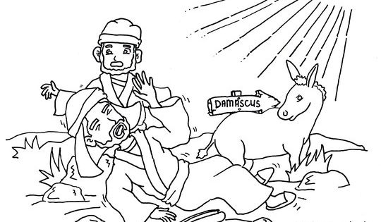 Saul on the road to damascus coloring page from carlos for Paul on damascus road coloring page