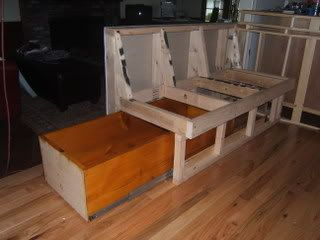 Diy Banquette With Coffin Drawer Pics Kitchens Forum Gardenweb Kitchen Seating Kitchen Banquette Dining Booth