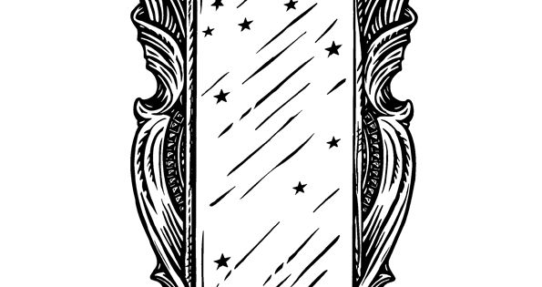 mirror will template - mirror of erised coloring page coloring pages