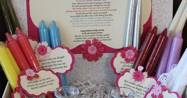 Candle Poem For Wedding Gift: Wedding Shower Candle Poem Gift Set. Bridal By