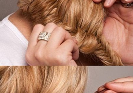 24 holiday hairstyle-This one looks cool, but who has time to fishbone