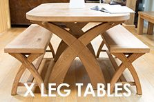 Cross X Leg Dining Tables 1 8m Fixed 1 8 2 3m Extending And