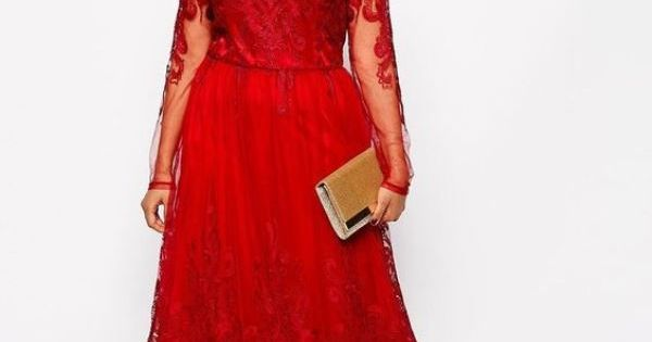 Stunning Red Plus Size Mother Of The Bride Dress