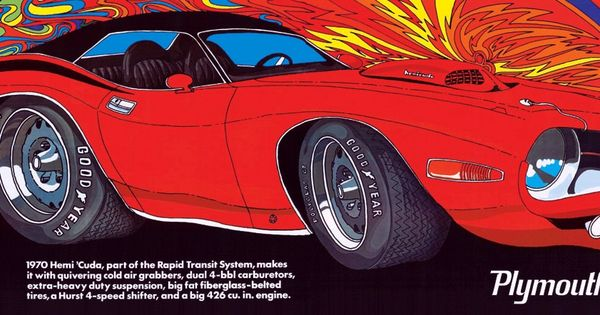 1970 Rapid Transit System Ad Campaign Featuring The Hemi