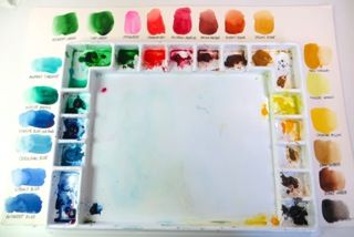 Laying Out Your Watercolor Palette Watercolor Watercolour