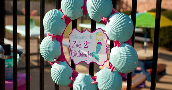 Mermaid Swim 2nd Birthday Party - Tutorials, Pool Party Ideas |