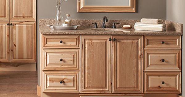 Natural Hickory Raised Panel Doors Semi Custom Bathroom