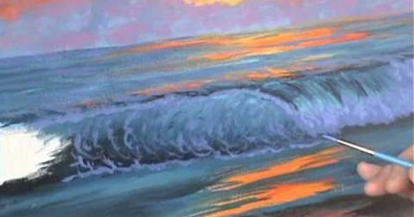 Comment peindre un coucher du soleil 6 sur la plage cour for Peindre sur de la peinture