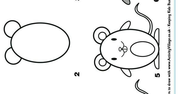 Comment dessiner un rat facilement dessin pinterest - Dessin d un rat ...