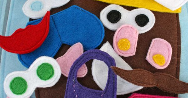 Felt quiet book pages - Potato Heads on this link and links