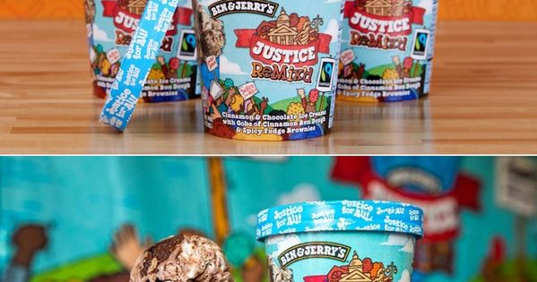 Justice Might Be Blind But Ben Jerry S Seeks Sweet Reform With Justice Remix D Ice Cream Companies Fun Desserts Food Packaging